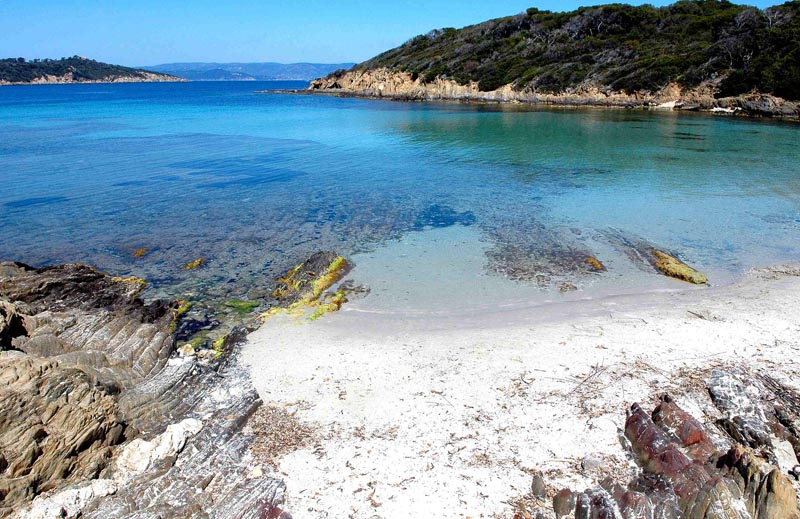La plage du sud - Port Cros