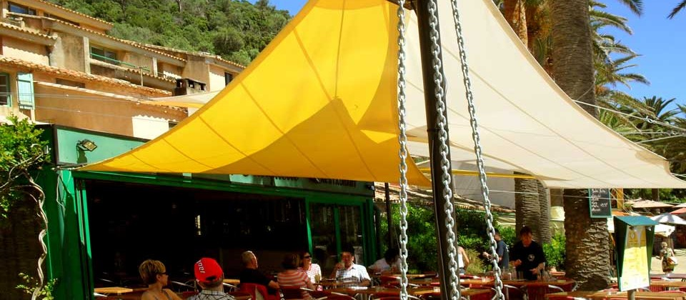 Restaurant La Trinquette - Vue Terrasse intérieure