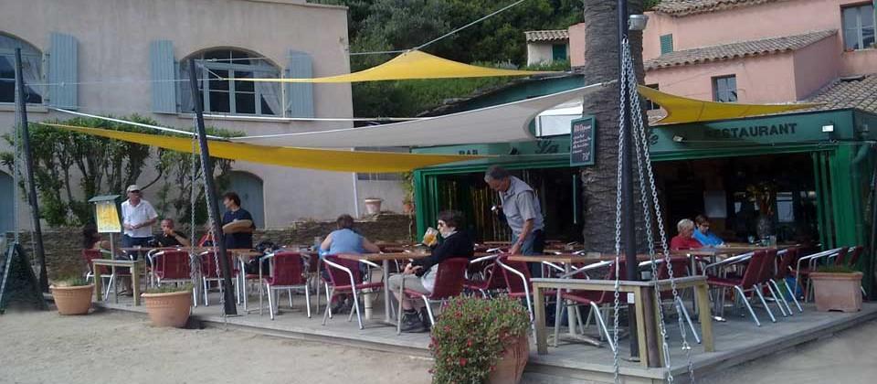 Restaurant Trinquette Port-Cros - Vue de la terrasse