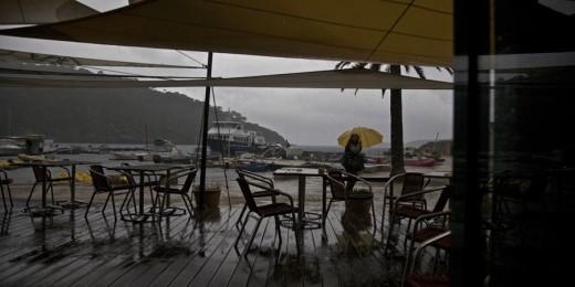 Restaurant la Trinquette - Port Cros - Jour de pluie