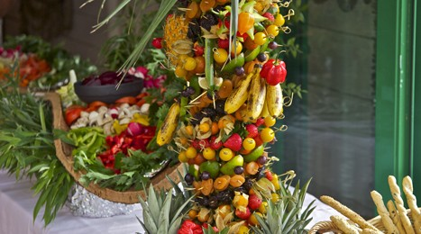 Buffet - Fruits - Evenement restaurant Port Cros la Trinquette
